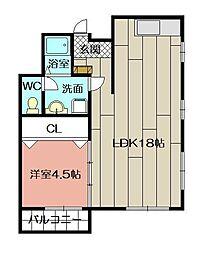 ニュー米谷ビル[4階]の間取り