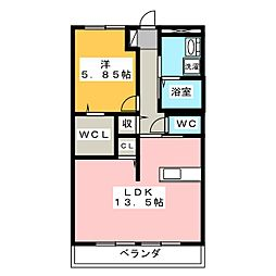 トリヴァンベール・鷹取[2階]の間取り