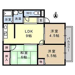 レトアハイツ[2階]の間取り