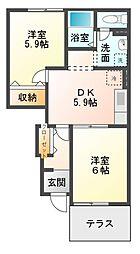メゾン花水木 弐番館[2階]の間取り