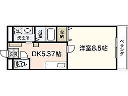 エコ・コスモIII[1階]の間取り