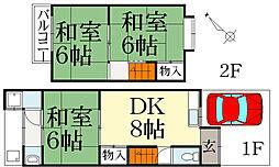 メゾンハウス柊野[2階]の間取り