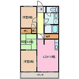 シティAZUMA[205号室号室]の間取り