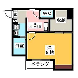 高山ハイツ[1階]の間取り