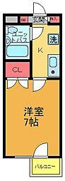 エステート亀有[3階]の間取り