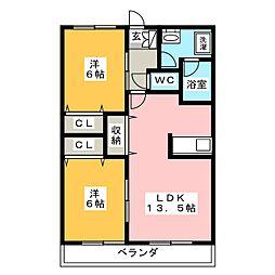 ひまわりハイツ[2階]の間取り