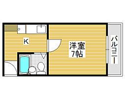 堺陽明ハイツ[2階]の間取り
