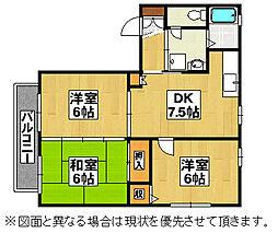 福岡県北九州市八幡西区光貞台2丁目の賃貸アパートの間取り