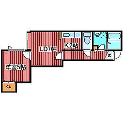 メゾン・ロアール[2階]の間取り