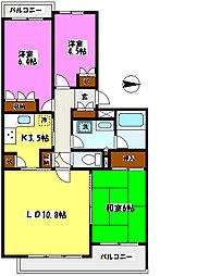松戸小金台パ−ク・ホ−ムズ[304号室]の間取り
