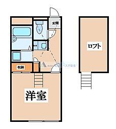 大阪府東大阪市宝町の賃貸マンションの間取り