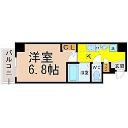 クレストステージ名駅[4階]の間取り