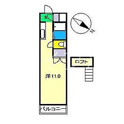 レジデンス優美36[5階]の間取り