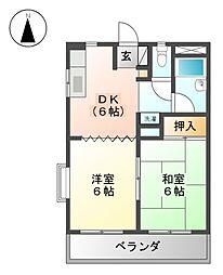 コーポ白壁[2階]の間取り