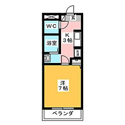 プレミール・シャンブル[1階]の間取り