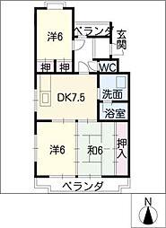 グレース妙慶[4階]の間取り