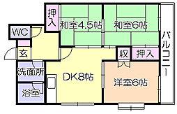 メゾン田島[1階]の間取り