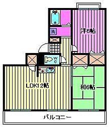 埼玉県さいたま市中央区新中里4丁目の賃貸マンションの間取り