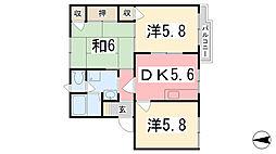 兵庫県揖保郡太子町東保の賃貸アパートの間取り