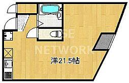 KAWARAMACHI PLACE[902号室号室]の間取り