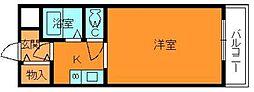 奈良県大和郡山市筒井町の賃貸マンションの間取り