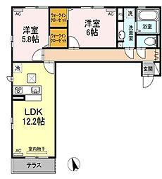 (仮称)D−room沖浜町居屋敷[1階]の間取り
