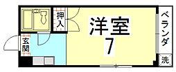 バルーンクラブ2[2D号室]の間取り
