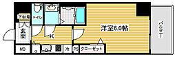 プレサンス三宮エレガンシア[7階]の間取り