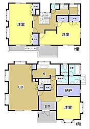 [一戸建] 静岡県掛川市旭ケ丘2丁目 の賃貸【/】の間取り