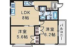 アーバンジョイ[2階]の間取り