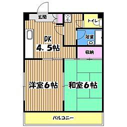 アムール子安[4階]の間取り