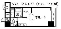 ララプレイス四天王寺夕陽ヶ丘[3階]の間取り