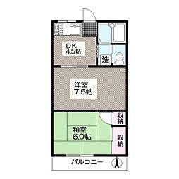 東京都江戸川区中葛西4丁目の賃貸アパートの間取り