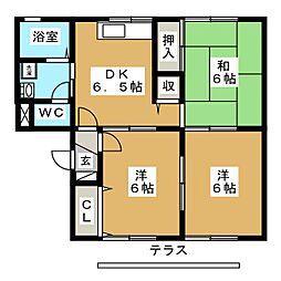 サンシャインK[1階]の間取り
