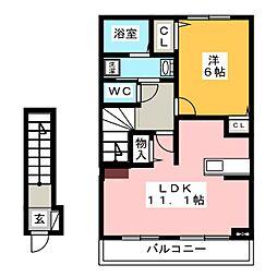 ソラーレ ロッソ[2階]の間取り