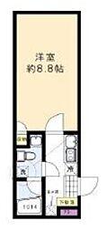 東京メトロ南北線 本駒込駅 徒歩7分の賃貸マンション 5階1Kの間取り
