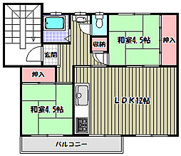 公団狭山住宅37棟[4階]の間取り