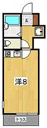 パストラル南鴨宮[101号室号室]の間取り