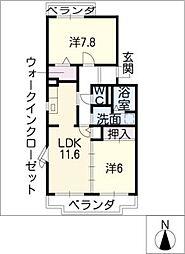 エスポワール清風弐番館[2階]の間取り