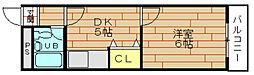 サンキューマンション[5階]の間取り