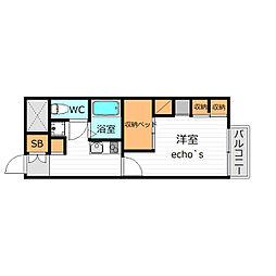 レオパレス高田井(34747)[1階]の間取り