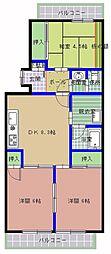 サンライト山崎[3階]の間取り