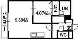 PRIME URBAN円山[00902号室]の間取り