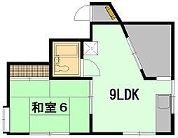 ミユキコーポラス[4階]の間取り
