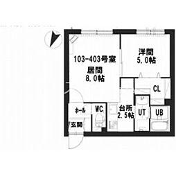 仮)グランメール 栄通17 1階1LDKの間取り