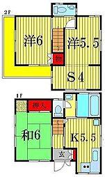 [一戸建] 東京都葛飾区南水元2丁目 の賃貸【/】の間取り