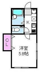 オネスティ松戸[201号室号室]の間取り