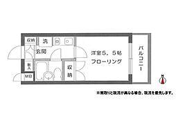 神奈川県大和市西鶴間1丁目の賃貸マンションの間取り