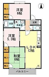 エスポワール34 A〜G棟[2202 号室号室]の間取り