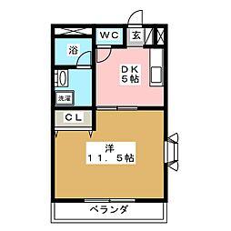 ピュアレ[3階]の間取り